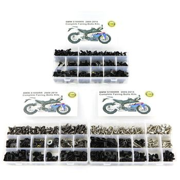 цена на For BMW S1000RR 2009 2010 2011 2012 2013 2014 Motorcycle Cowling Complete Full Fairing Bolts Kit Steel Fairing Clips Speed Nuts