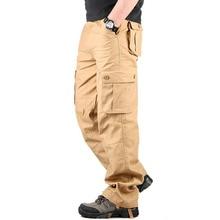 30-44 Plus größe Hohe Qualität männer Cargohose Beiläufige Hose Multi Pocket Military Insgesamt für Männer lange Hosen