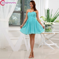 8th grade Real Photo Short Modest Graduation Homecoming Dresses Sweetheart Chiffon Ball Gown Prom