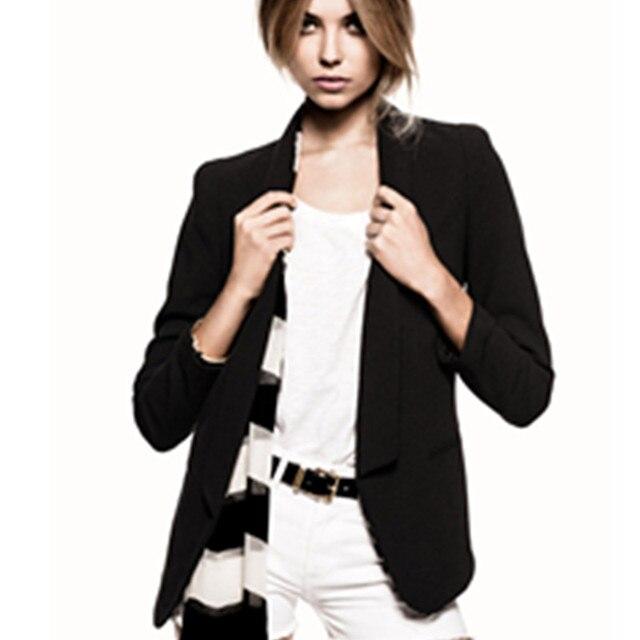 Новый Женский Мода Slim Blazer Пальто С Длинным Рукавом Женщины Карманы Повседневная Пиджак Плащ Костюм Рабочая Одежда Плюс Размер женщин Блейзеры F896
