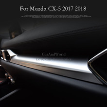 ФОТО accessories for mazda cx-5 cx5 2017 2018 center middle console control panel trim cover interior abs chrome sticker car-styling