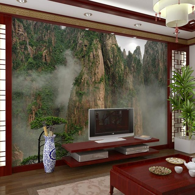 Home Decor Wall Papers Nature Mountain Photo Wall Painting Papel Mural 3D  Living Room Bedroom Self