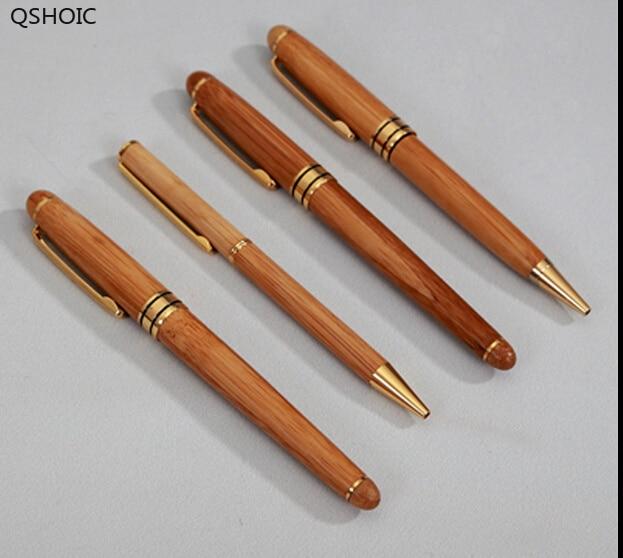 Pengiriman gratis bola bambu, Butik otentik pribadi logo kustom pena bambu