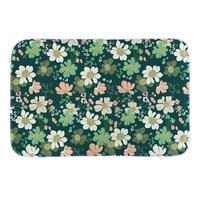 Flowers Printed Doormat Home Decor Door Mats Indoor Outdoor Bathroom Short Plush Floor Mat Hello Spring