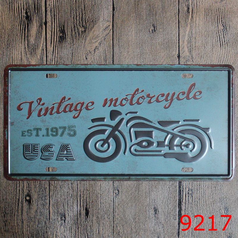 Hot Motorcycle Car Metal Plates Vintage Metal tin sign Bar Wall art ...