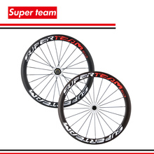 Superteam 50mm Matte Carbon Clincher Wheelset 700c Road Bike Wheels Carbon Rims For Shimano(China)