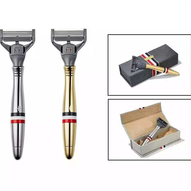 Traditional Style Men Safety Razor Manual Shaver Replaceable Knife Head Face Care Shaving Tools