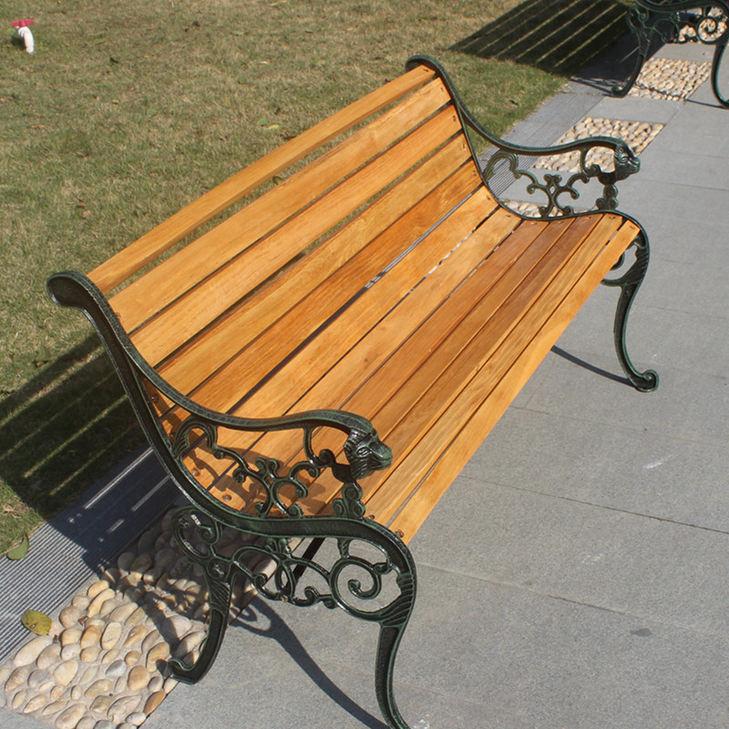 Leisure Park Bench Outdoor Wood Preservative Double Benches And Chairs  Wooden Wrought Iron Furniture In Patio Benches From Furniture On  Aliexpress.com ...