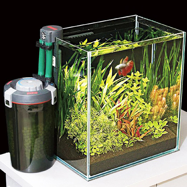 Aquacompact eheim external filter mini nano aquarium fish for Outdoor fish tank filter