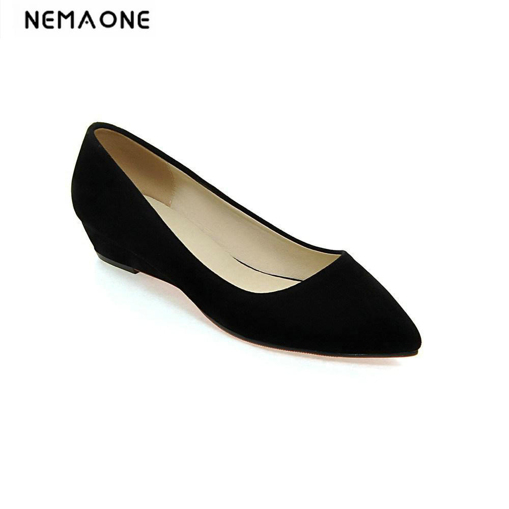 2018 Fashion Women Shoes Woman Flats high quality suede Casual Comfortable pointed toe Rubber Women Flat Shoe New Flats fashion women shoes woman flat shoes high quality comfortable pointed toe women sweet flats hot sale shoes size 35 43