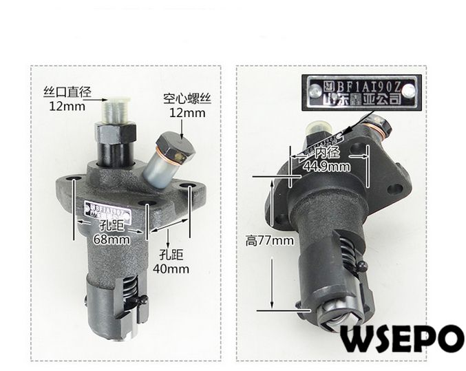 OEM Quality! Fuel Injection Pump for L24 4 Stroke Single Cylinder Small Water Cooled Diesel Engine oem quality cylinder sleeve liner piston kit 06 pc kit for direct injection zs1105 4 stroke small water cooled diesel engine