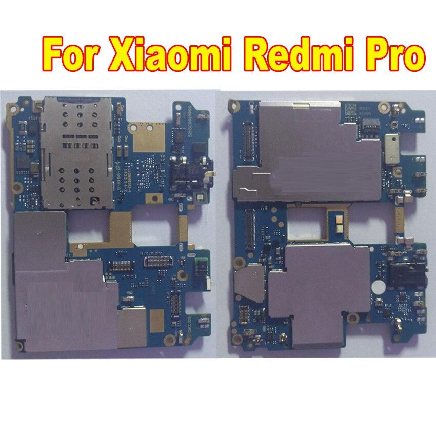 LTPro D'origine Utilisé Fonctionnait Bien Pour Xiao mi rouge Mi pro 64 Gb débloqué mi Compte carte Mère Mère Carte Principale remplacement