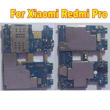 Originale Testato Lavoro Mainboard Per Xiaomi Redmi Pro Hongmi Pro 64GB Sbloccato Scheda Madre Circuiti Tassa di Carta di Cavo Della Flessione