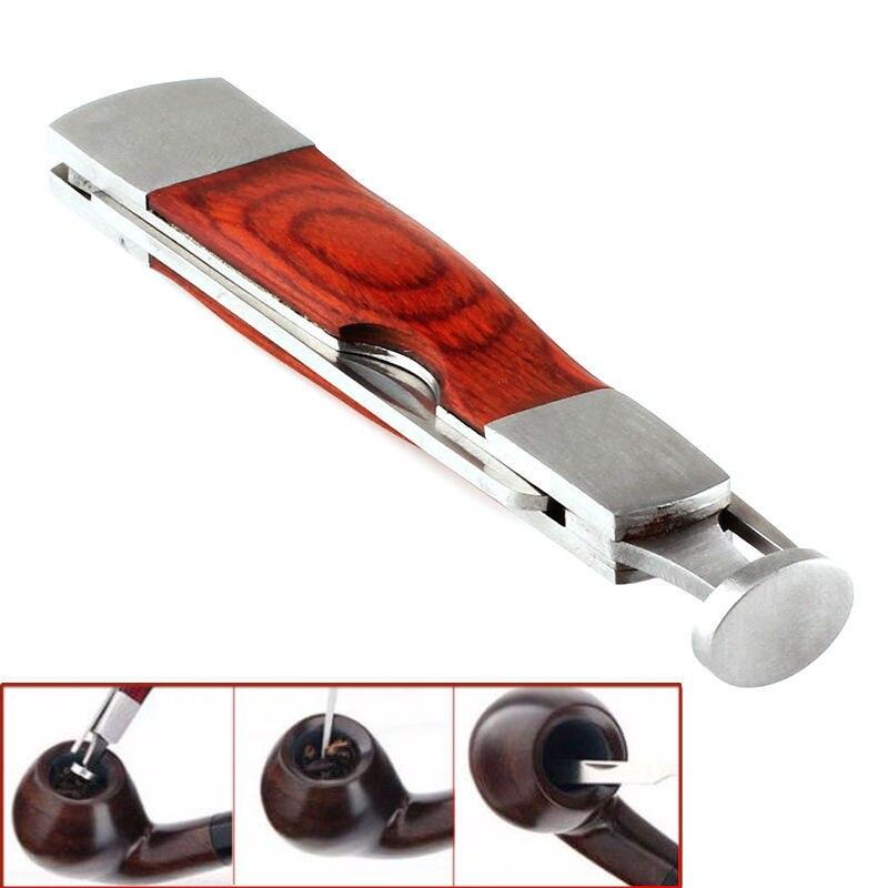 1 Set Multifunction Red Wood Smoking Pips