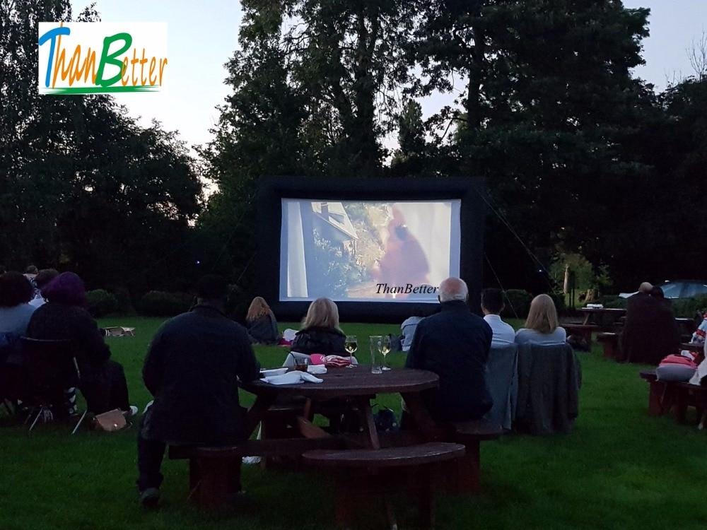 16:9 Профессиональный проектор Материал гигантский надувной киноэкран для оборудование для детской вечеринки дешевые цены