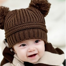 Acrylic wool children's knitted hats and caps winter warm bonnet homme enfant chapeau kids muts for baby boys girls 0-2 yeasrs 2016 new novelty funny hats for kids winter warm knit wool baby girls hats 2 10years cute cowl beanie caps bonnet enfant