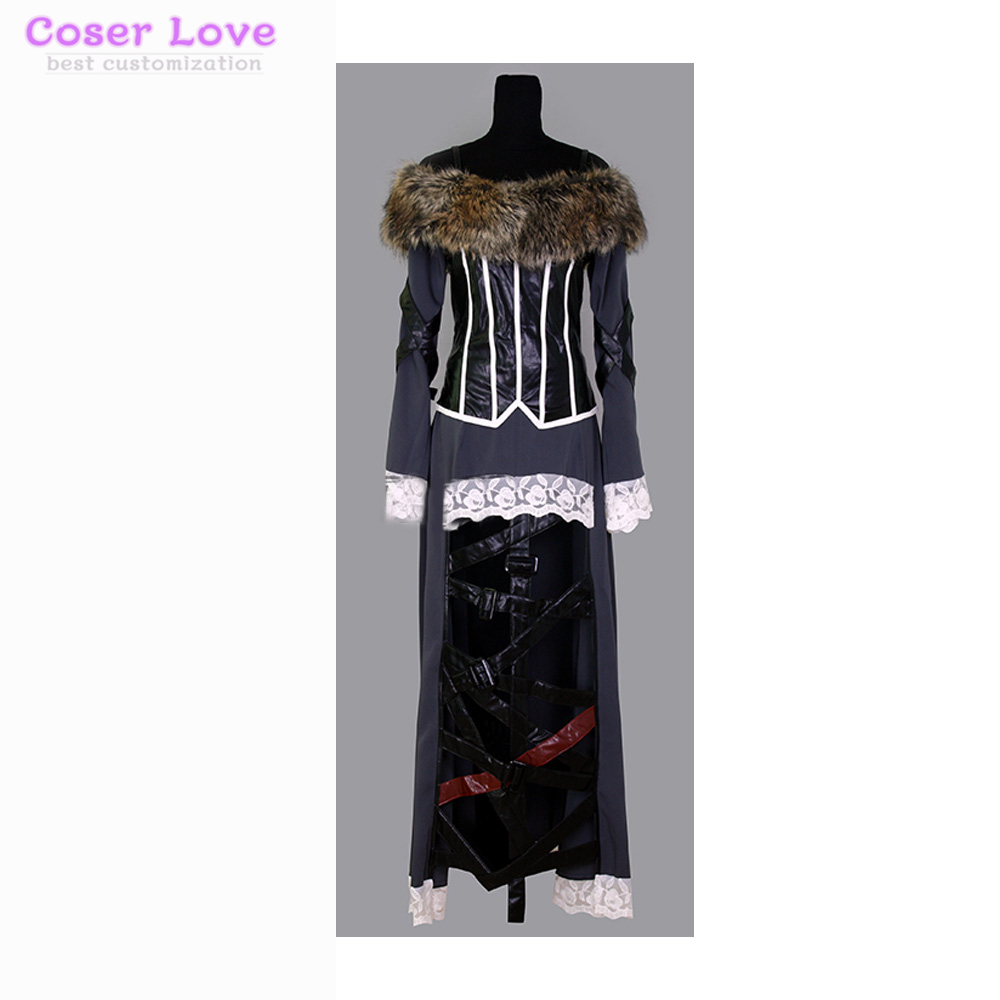 Final Fantasy X Lulu Cosplay Costume scène performance vêtements