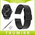 22mm correa de liberación rápida para lg g watch w100 milanese/r W110/Urbano W150 Pebble Tiempo/Banda de Acero Inoxidable Pulsera de Acero