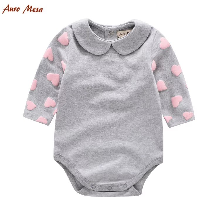 2018 New Pink Love Pattern Baby Rompers Baby Girl Long Sleeve Cotton Jumpsuit Infant Princess Spring Clothes Baby One Piece newborn baby rompers baby clothing 100% cotton infant jumpsuit ropa bebe long sleeve girl boys rompers costumes baby romper