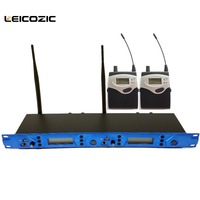 Leicozic BK5102 2 receivers 1 transmitter dual channel in ear monitor system professional sound system personal monitor systems