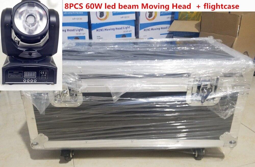 8PCS 60W led mini Moving Head + flightcase LED Spot Moving Head Light/USA Luminums mini led beam Moving Head 60W RGBW 4in1 beam 8PCS 60W led mini Moving Head + flightcase LED Spot Moving Head Light/USA Luminums mini led beam Moving Head 60W RGBW 4in1 beam