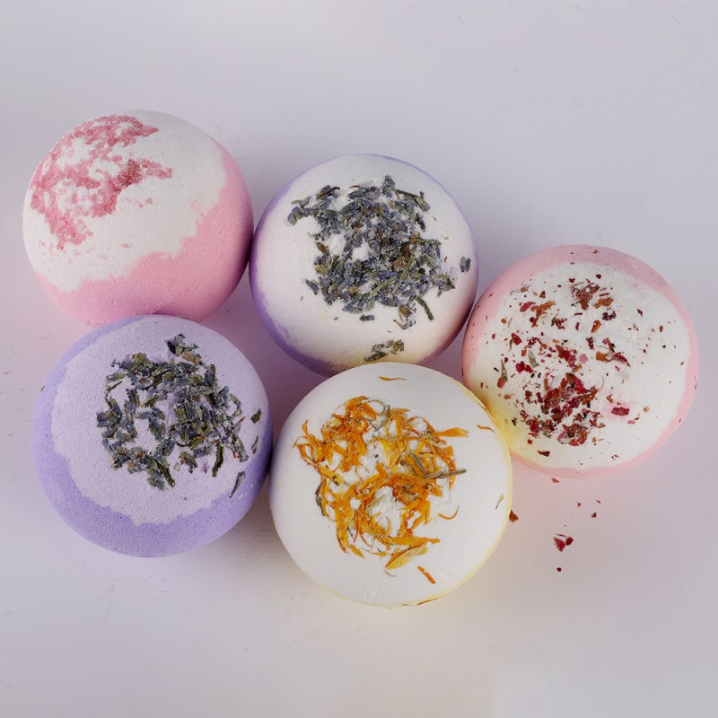 Dry Flower Moisturizing Bubble Bath Bomb Ball Essential Oil Bath SPA Stress Relief Exfoliating Bath Salt Bathing New Arrival