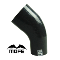 Mofe 5pcs Black 45 Degree Elbow 2.25