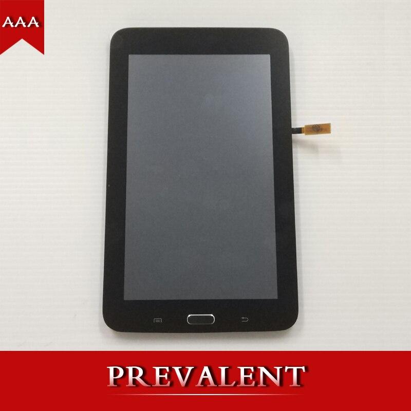 Pour Samsung T110 SM-T110 Galaxy Tab 3 Lite 7.0 LCD Full Panneau D'affichage de Moniteur + Écran Tactile Digitizer Assemblée Capteur + cadre