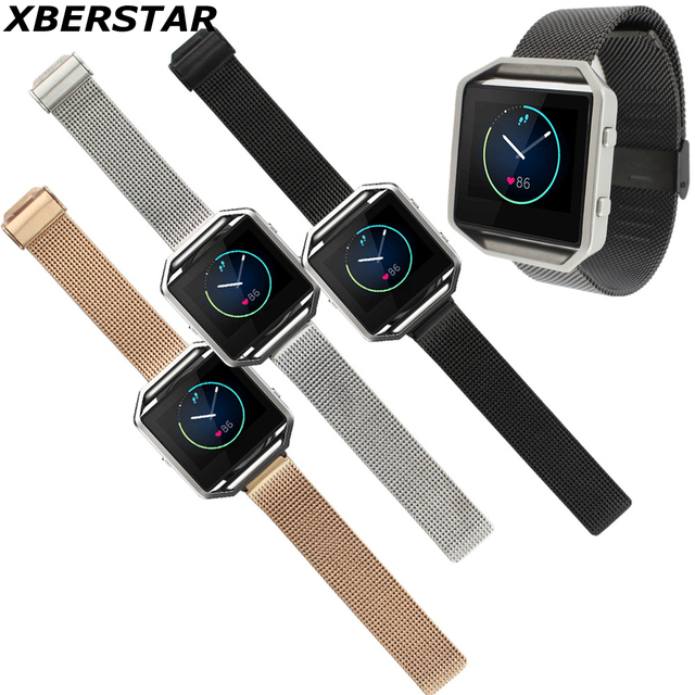 Milanese Stainless Steel Watch Bands for Fitbit Blaze Activity Tracker SmartWatch Heart Rate Monitor