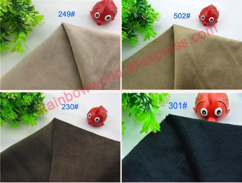 230# Brown Color Super Soft Short Hair 0.5-1.5mm Fleece Fabric Velvet Microfiber Velboa for DIY Patchwork Toy Sofa Pillow