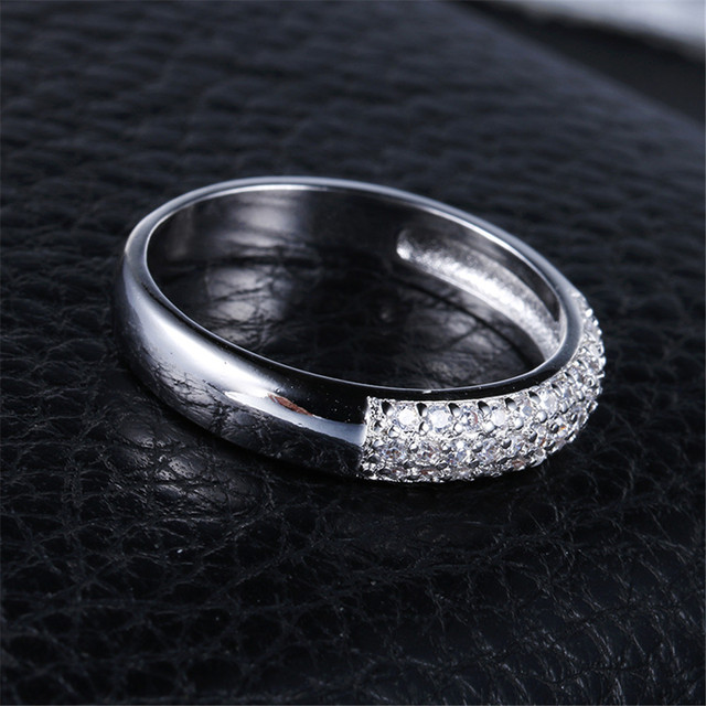 DODO AAA Zircon Rings Silver Color Band Rings Jewelry 3