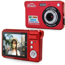 Amkov CDC3 2.7 Inch TFT Screen 18.0MP CMOS 5.0MP Anti-shake Digital Camera with 8X Digital Zoom 1300w Pixel Video Camera