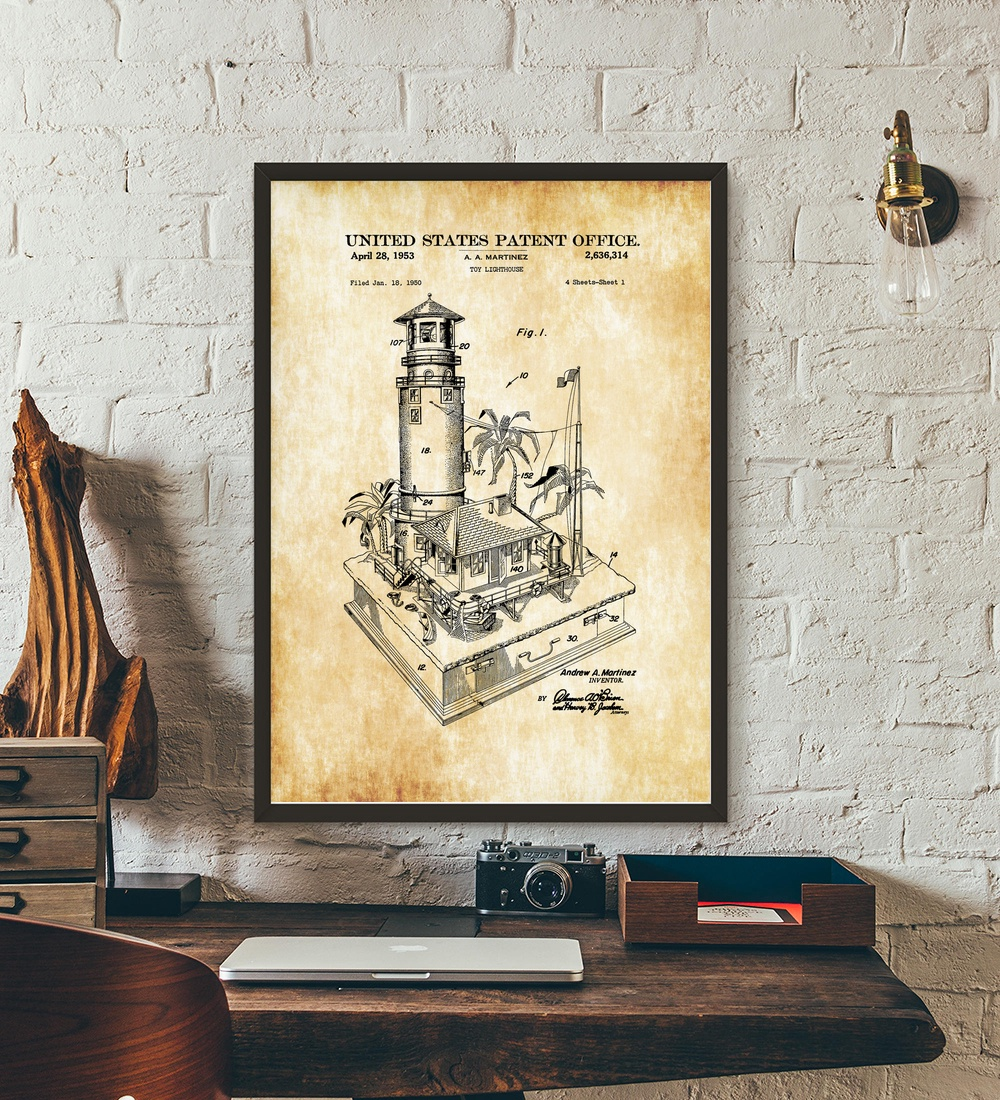 1953 lighthouse patent print blueprint wall art paint wall decor 1953 lighthouse patent print blueprint wall art paint wall decor canvas prints canvas art poster oil paintings no frame in painting calligraphy from home malvernweather Image collections
