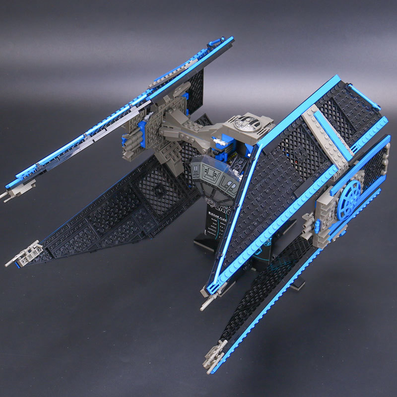 703pcs Lepin 05044 Star Series Wars TIE Interceptor Building Blocks Locking Bricks Model Educational Toys 7181 Cgildren Gifts конструктор lepin star plan истребитель tie interceptor 703 дет 05044
