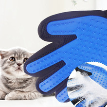 Grooming Glove for Cats Brush Comb Cat Hackle Pet Deshedding Brush Glove Pet Hair Glove for Cat Dog Grooming(China)