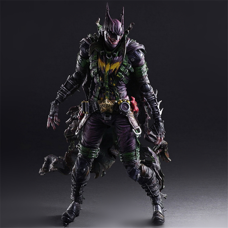DC COMICS VARIANT PLAY ARTS KAI BATMAN Rogues Gallery The Joker PVC Action Figure Collectible Model Kids Toys Doll 26cm xinduplan dc comics play arts kai justice league movie joker batman movable action figure toys 27cm kids collection model 0276