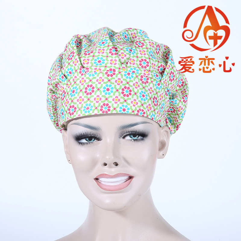 NEW Ai Lianxin100% cotton women medical caps surgical caps with sweatband ALX-156 ai lianxin surgical bouffant caps one size adjustable animal forest alx 192