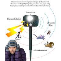 Outdoor Ultrasonic Drive Repellent Anti thief Alarm 25 61KHZ Green For 4 x 2/3 AA 120dB Cat Animal Wild