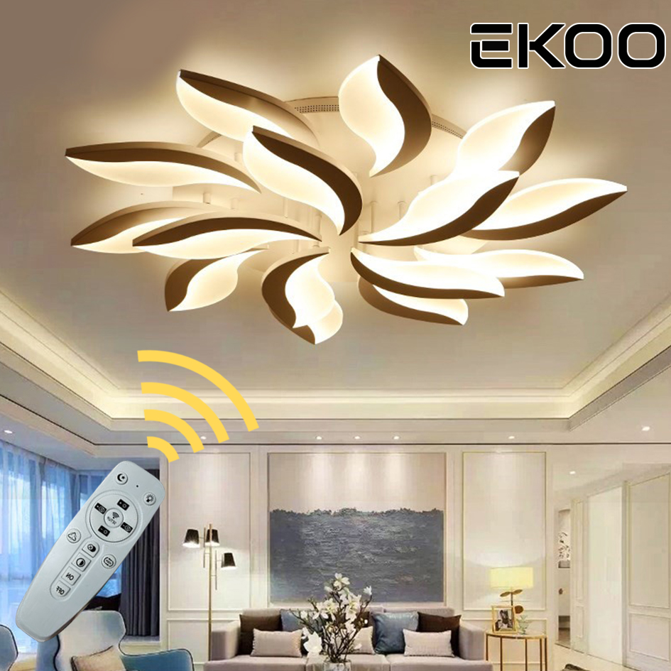 EKOO Acrylic Modern Eyebrow LED Dimmable with remote Ceiling Lights luminaire lamparas de techoEKOO Acrylic Modern Eyebrow LED Dimmable with remote Ceiling Lights luminaire lamparas de techo