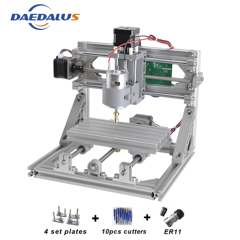 CNC Wood Router DIY 1610 Machine 3 Axis Mini DIY PCB Milling Machine Wood Carving Engraver 500MW Laser With GRBL Control цена