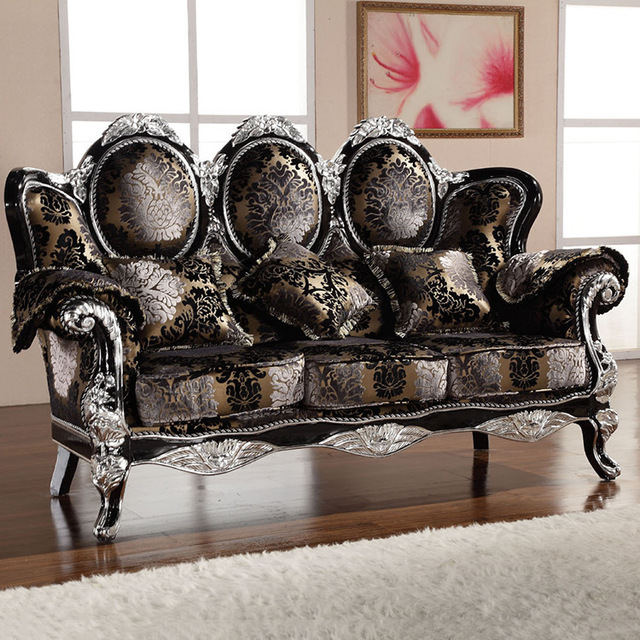 Wood Combo Chair: Europe Classic Style Sofa Furniture Oak Wood Carving With