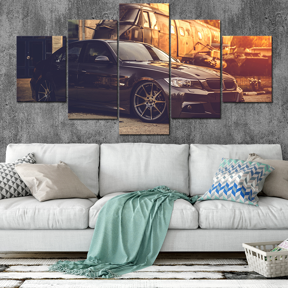 Canvas Posters Home Decor Wall Art Framework 5 Pieces BMW Paintings For Living Room HD Prints Modern Car Pictures