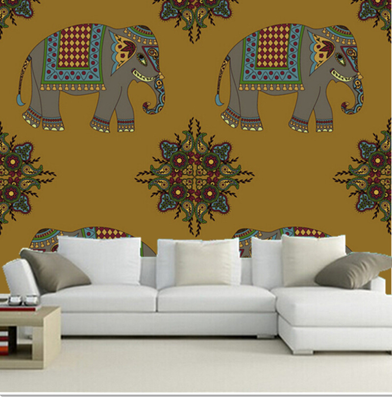 Custom 3d Large Mural Beautiful Picture Of Elephants In India Papel De Parede Living Room Sofa Tv Wall Bedroom Wall Paper Picture Of Color Chart Pictures Of Chinese Herbspictures Rare Aliexpress
