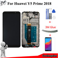 "5.45"" AAA quality LCD + Frame For Huawei Y5 Prime 2018 LCD Display Touch Screen Digitizer Assembly For DRA-L02 DRA-L22 DRA-LX2(China)"