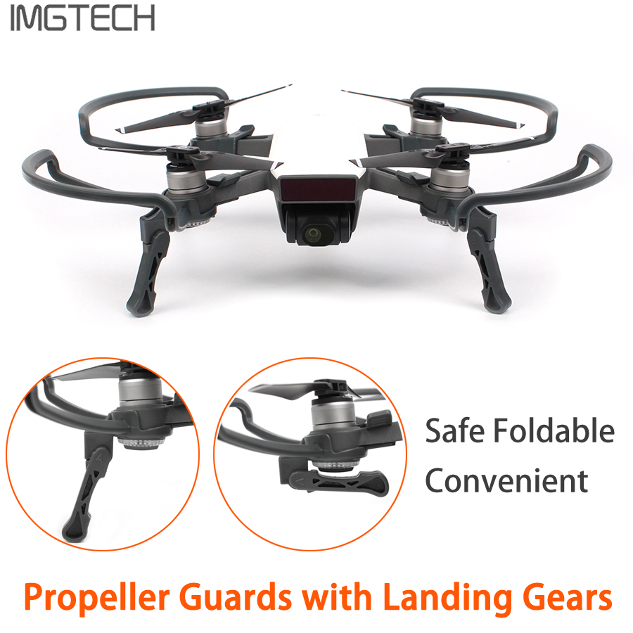 2 in 1 DJI SPark Propeller Guards + Foldable Landing Gears Protection Kit for DJI SPARK Drone Accessories