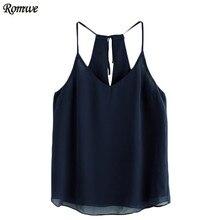 ROMWE Tank Tops for Women Chiffon Spaghetti Camis Womens Clothing Womens Sexy Tops Spaghetti Strap Chiffon Cami Top