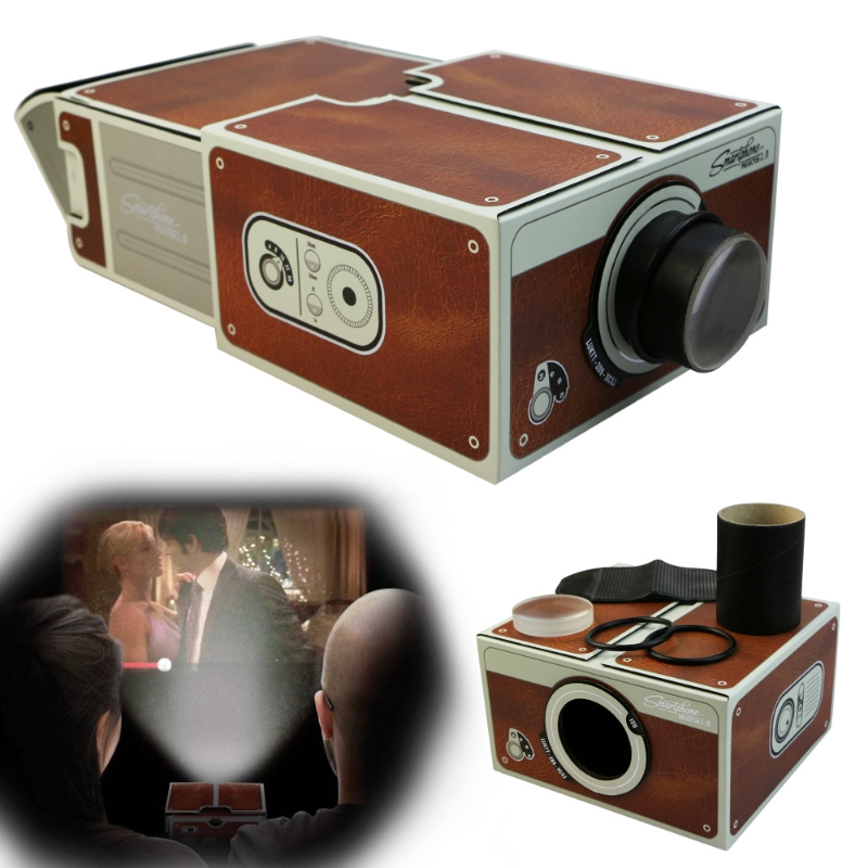 Portable Cardboard Smartphone Projector 2.0 DIY Mobile Phone Cinema Theater Drop Shipping Support