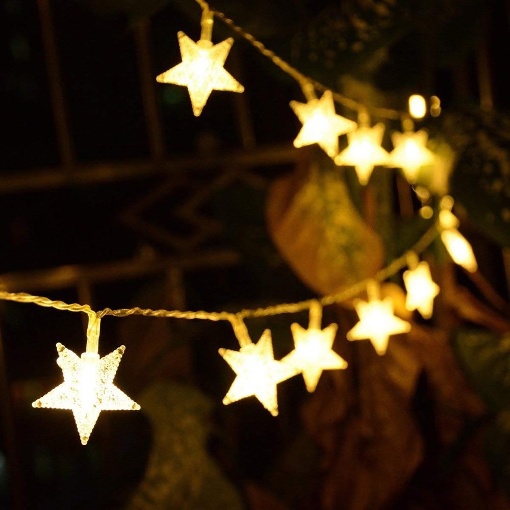 10m 100led Twinkle Star Fairy String Lights Eu Plug