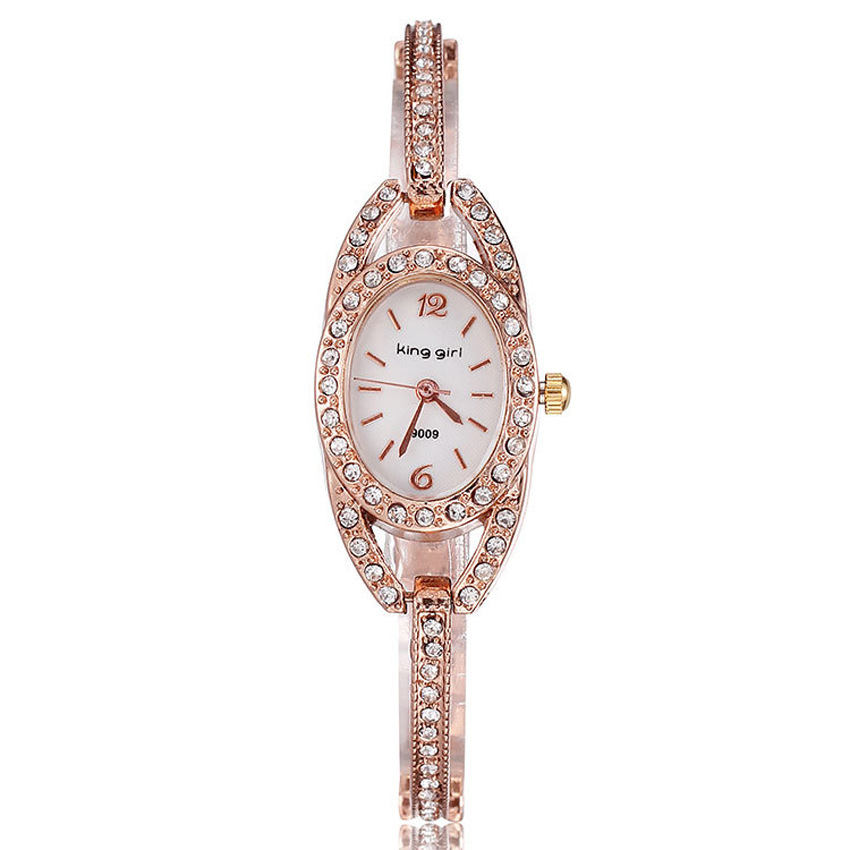 Rose Gold Watch Kvinnor Quartz Klockor Ladies Top Märke Luxury - Damklockor