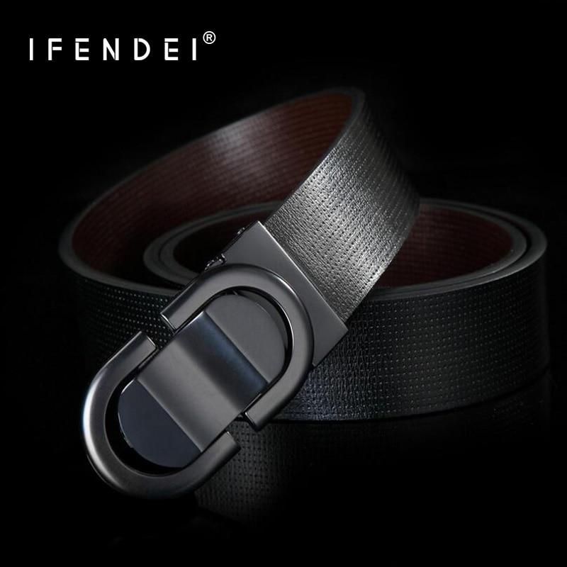 IFENDEI Mäns Vit Bälte Läder Silver Guld Buckle Midja Ringar För Män Rygg Bälte Business Plate Spänne Rem ceinture Homme
